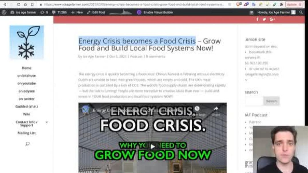 Artificial Supply Chain & Energy Crises Morph Into A Food Supply Crisis