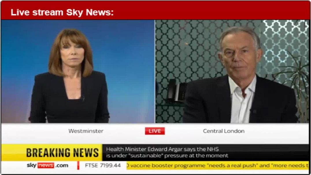 Disnonourable Tony Blair Gets confused during interview ranting Inject and kill all UK NOW1-)))