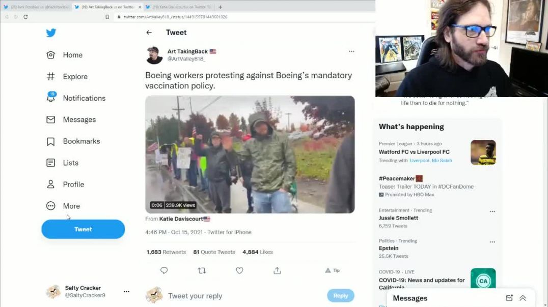 Boeing Workers Stage Protest Over Vaccine Mandate