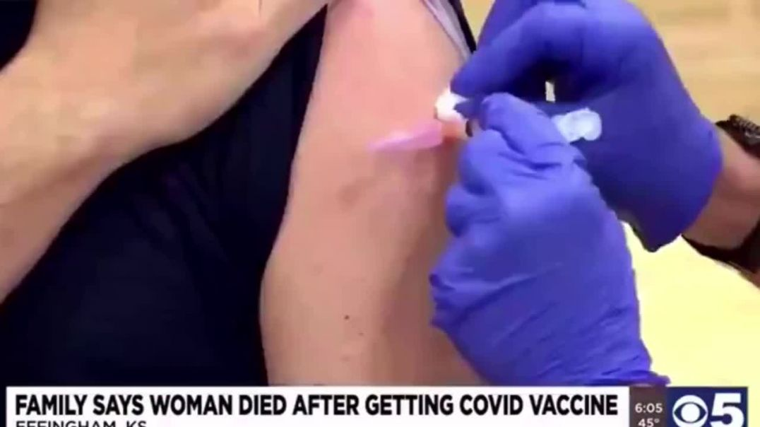 """Jeanie Evans - DROPS DEAD! - 15 minutes after taking the BIOWEAPON """"vaccine""""!"""