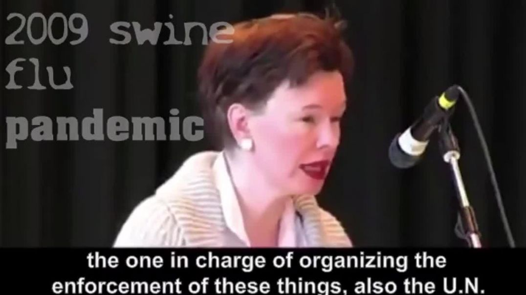 Jane Burgermeister..PREPARATIONS IN 2009 FOR THE W.H.O TYRANNY, OFF THE BACK OF PIG FLU NONE STARTER
