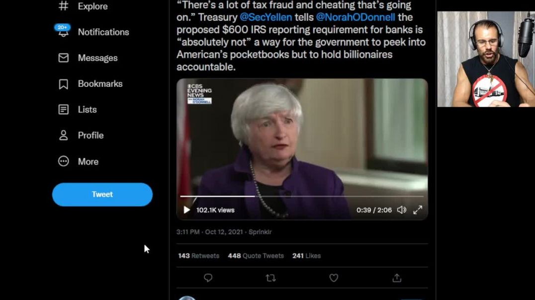 Watch this Disgusting Bankster Lie Like a Dog!