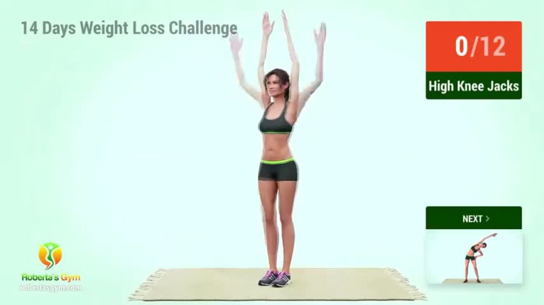 14 days Gauranteed weight loss chalange home work out router for men and women