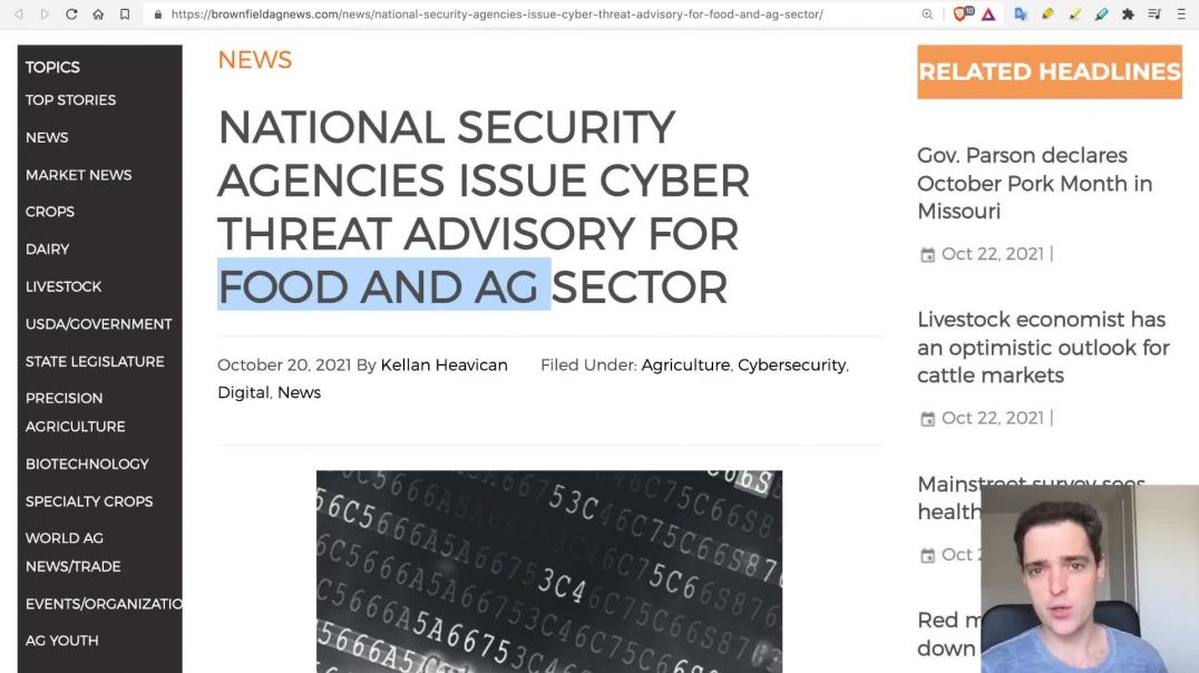 CEO: Food Prices to Explode NOW; FBI/NSA warn of Cyberattacks on Food & Water Systems