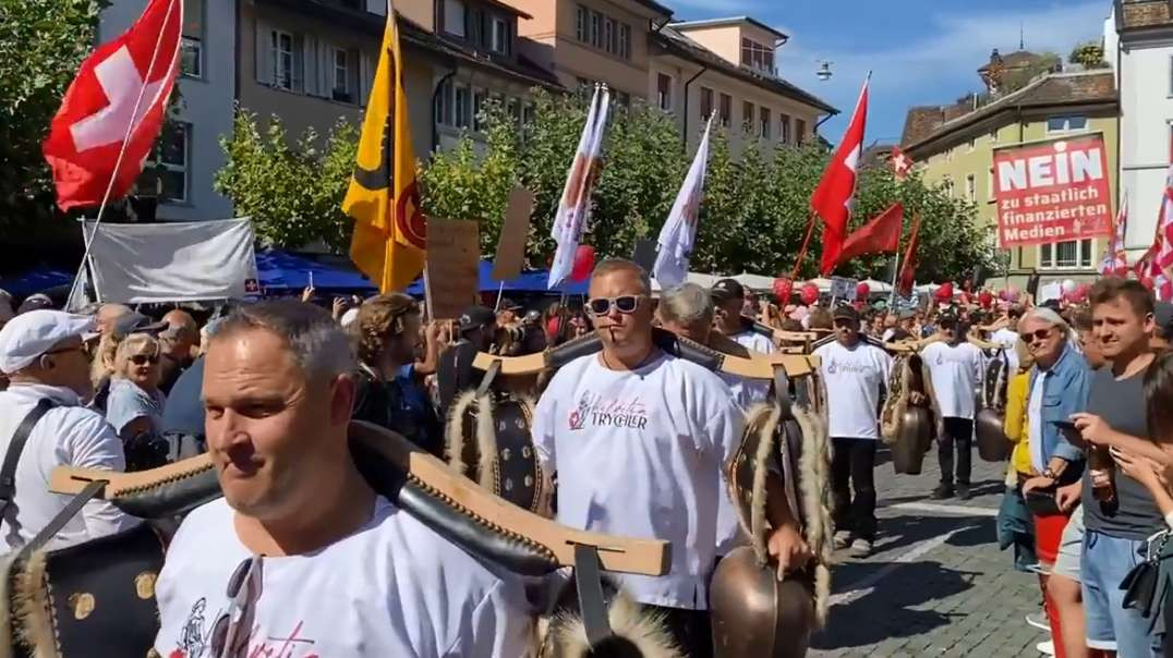 Sept18th Switzerland Winterthur Demo Freedom March Protest Covid-19 Restrictions Vaccine Mandates