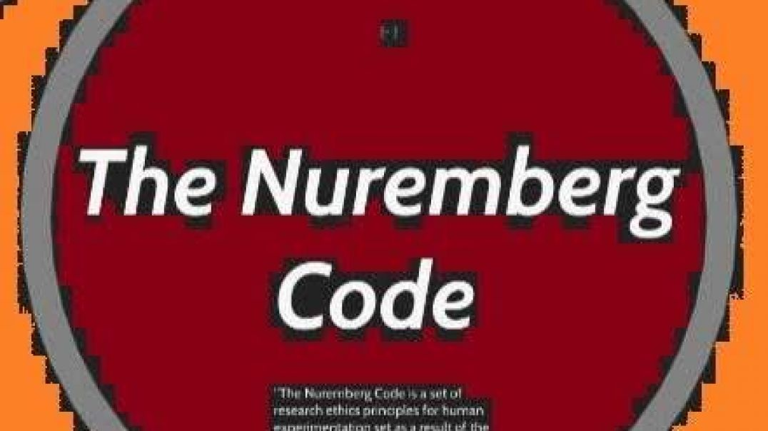 The Nuremberg Code - text to speech AUDIO only reading: