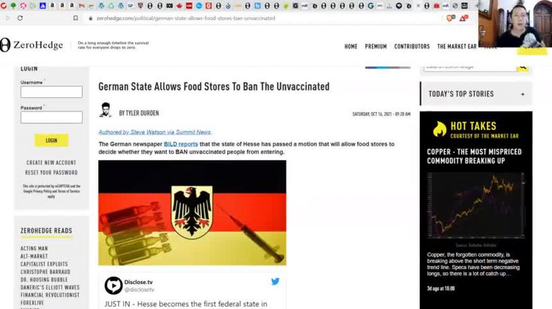 NO VAX, NO FOOD! - Germany Goes COMPLETELY INSANE! - No Hospitals For UnVaxxed?!