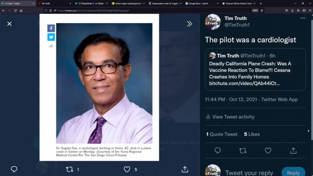 A Cardiologist Was Behind The California Cessna Plane Crash, Did Vaccine Cause Him To Lose Control?