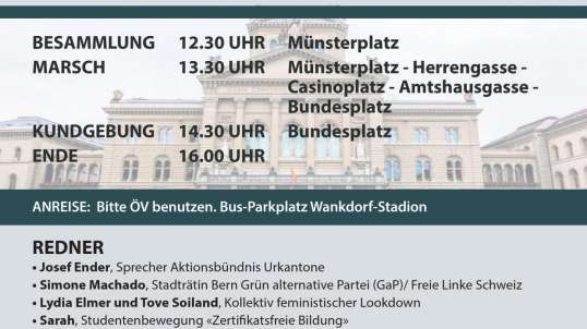LIVE: Freedom-Rally direct from Bern / Swiss Capital 23.10.2021