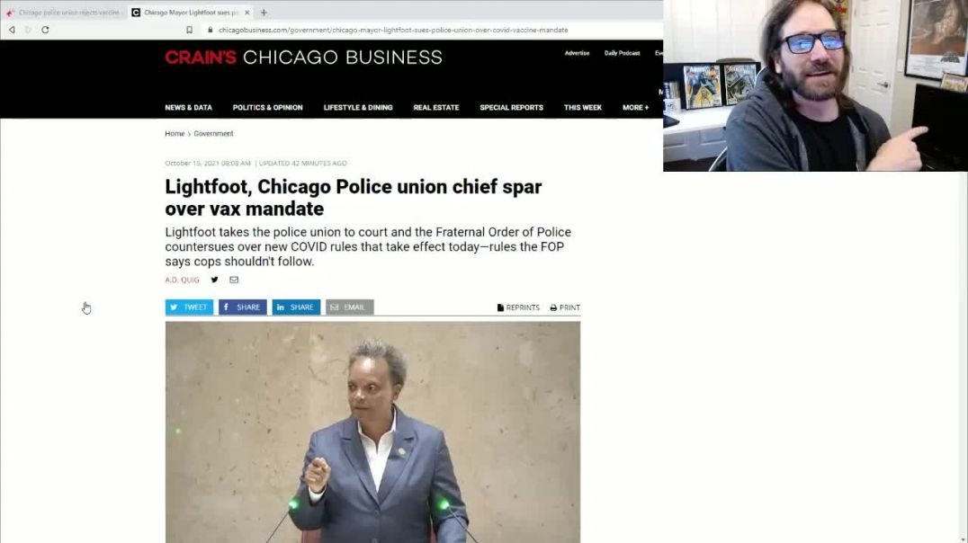 Half Of Chicago's Police Have Not Submitted To Vax Deadline