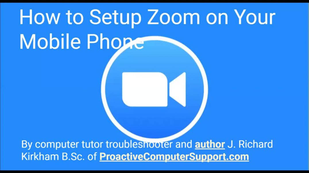 How to Setup Zoom on Your Android or iPhone Mobile Phone by Computer Tutor Rick Kirkham of Oahu