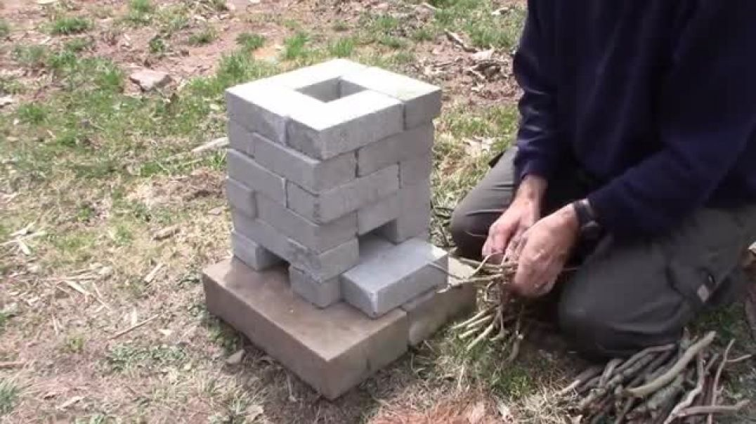 DIY Brick Rocket Stove - Cooking Without Electrical Power