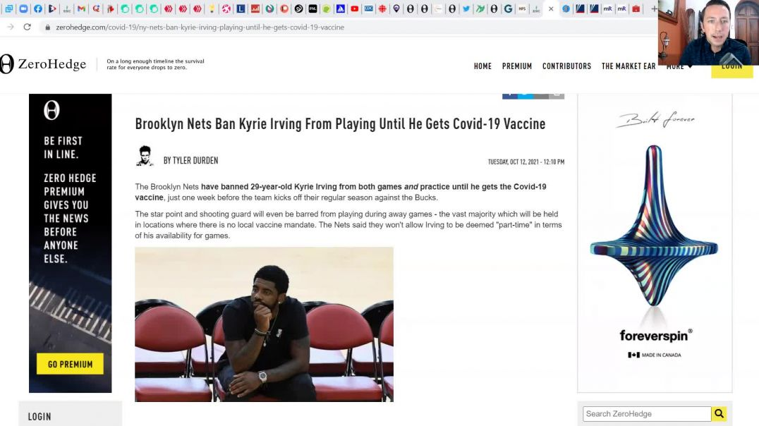 NBA's Kyrie Irving BANNED For Not Having Jab! - The WAR On Healthy People CONTINUES!