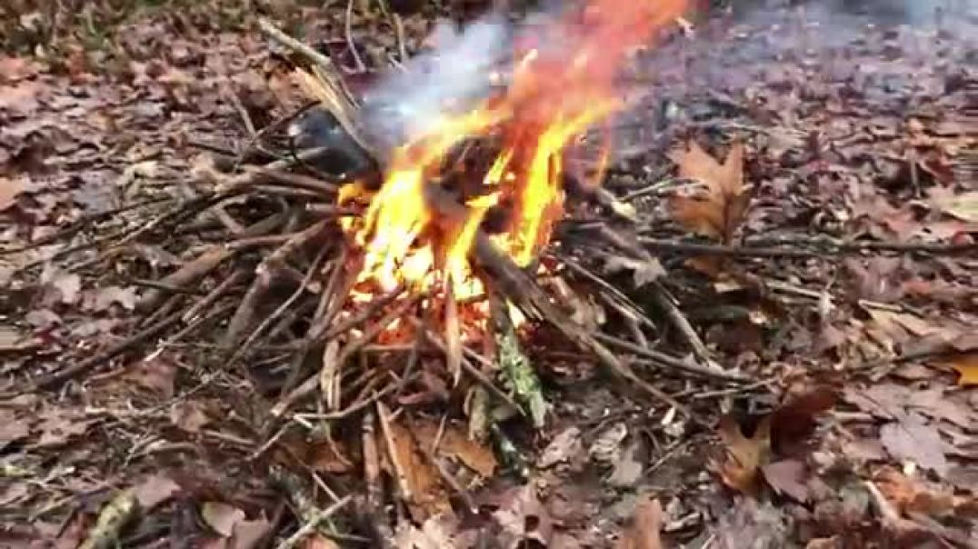 How To Make and Sustain a Fire in The Rain