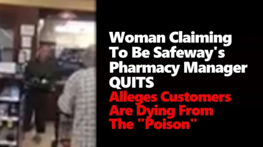 """""""I Will Not Give This Poison"""" - Video Appearing To Be A Pharmacy Manager Quitting Safeway."""