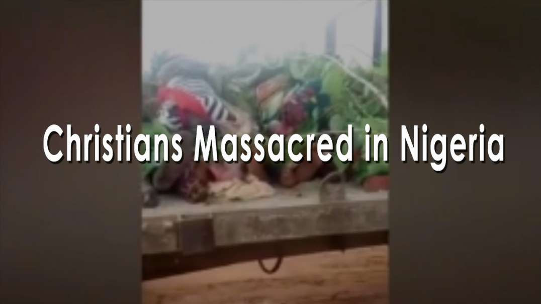 Bodies of Christian martyrs piled high on truck after massacre in Nigeria