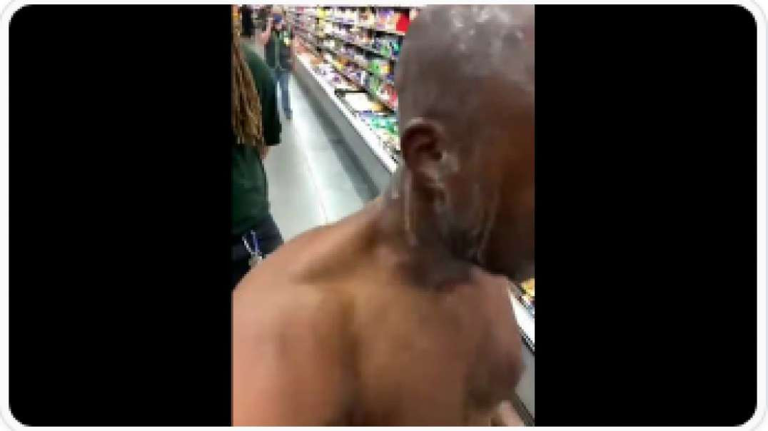 This Guy Is Off His Rocker In Walmart - DON'T DO DRUGS LOL