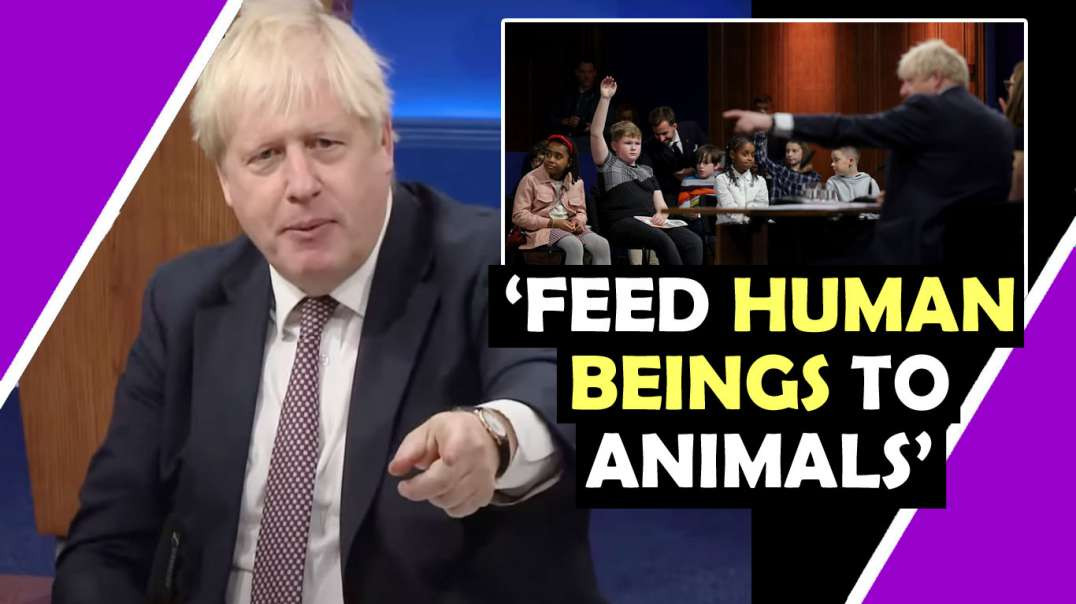 """Boris Johnson suggests """"We could feed some of the human beings to the animals """" Hugo Talks #lockdown"""