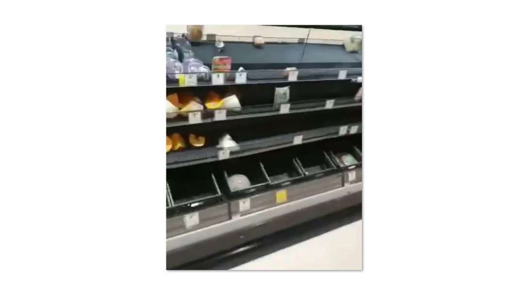 Empty supermarket shelves - where is this world headed to?