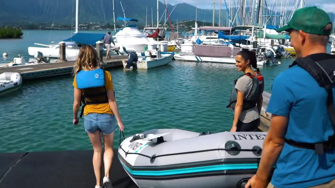 The popular Intex inflatable boat is a great boat for fishing, water sports, and more.
