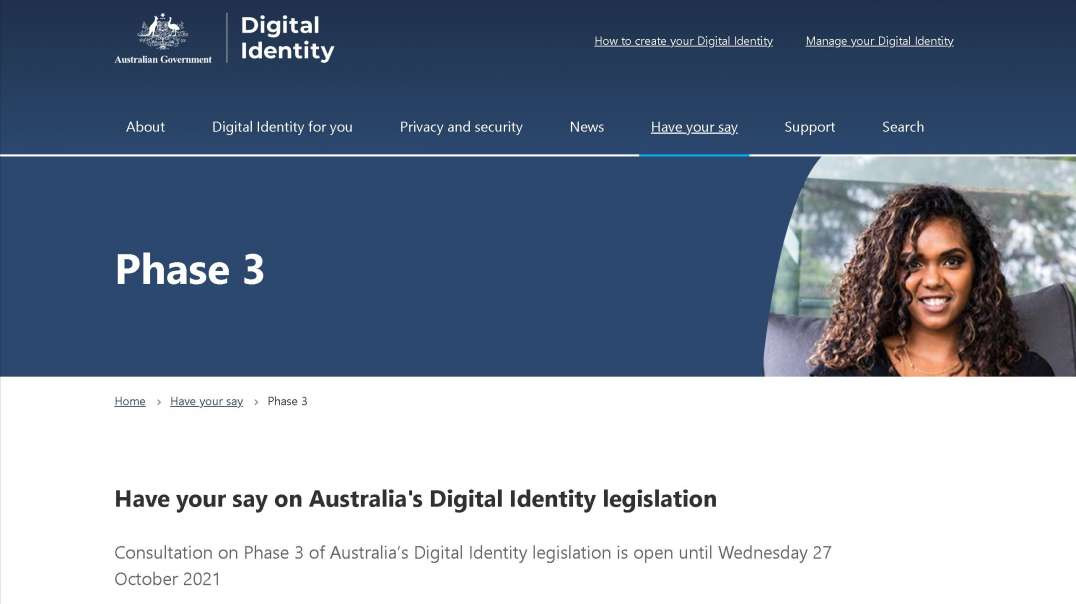 Australian Government Digital Identity Have your say Link in Description Submiss