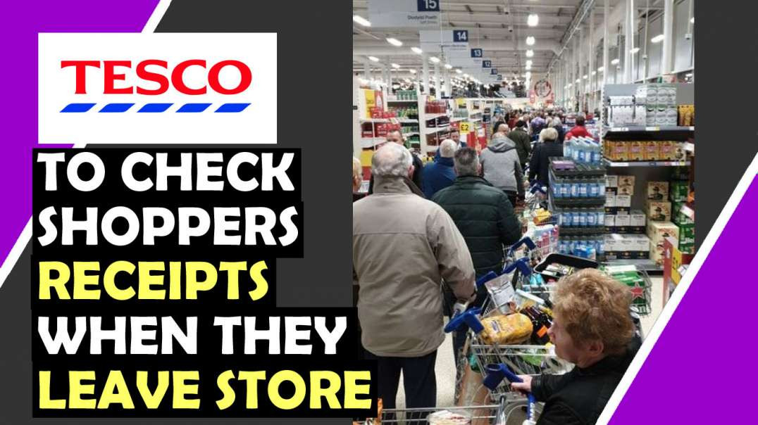 TESCO To CHECK Shoppers Receipts When Leave Store / Hugo Talks #lockdown