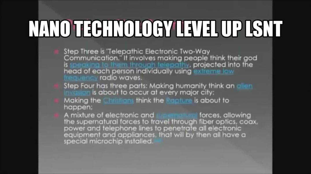 WANT TO LEARN? Nano Technology Taking Away The Soul & Other Things DR Robert Ducan
