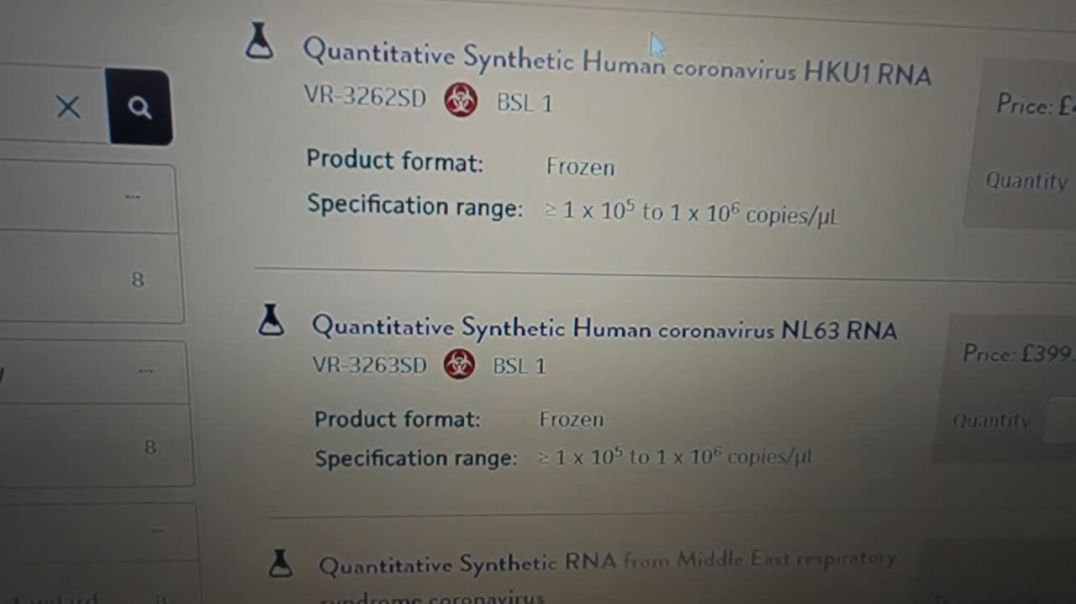 Synthetic Human and animal Coronavirus` for sale. Check it out.
