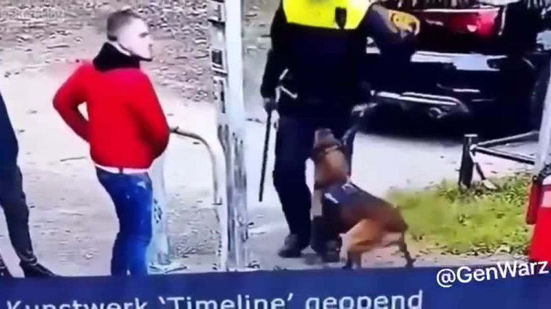 Mans best friend - K9 joins protesters and attacks the cops in Netherland