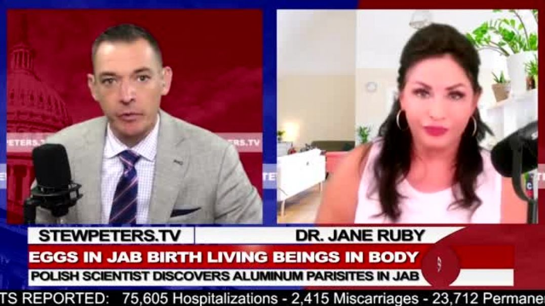 Dr. Jane Ruby | Jab: Scientist Discovers Hatching Eggs, Parasites Birthed After Injection