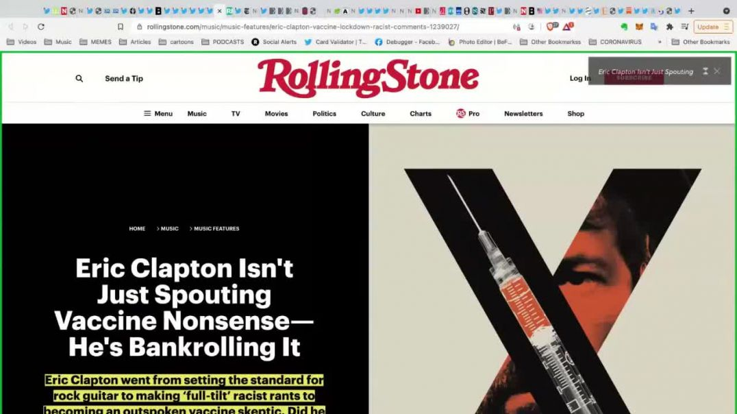 TLAV Rolling Stone Pathetic Article About Eric Clapton Covid-19 Vaccine Experience David Browne