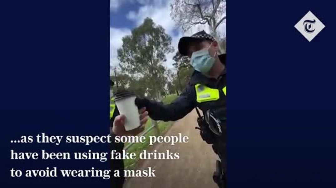 Melbourne Police check coffee cups to ensure there is some liquid in them
