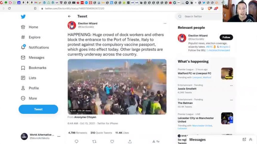 PANIC IN ITALY AS PORTS CLOSED BY WORKERS! - JAB MANDATES REJECTED BY MILLIONS! - MASSIVE PROTESTS!
