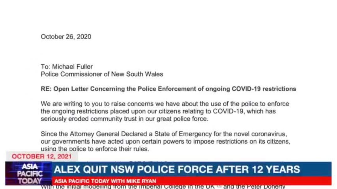Australia -➡️- NSW Police ignore the 'best available' evidence with Alexander Cooney