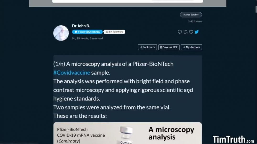 """Pfizer """"vaccine"""" microscope photos released by Dr.John B"""