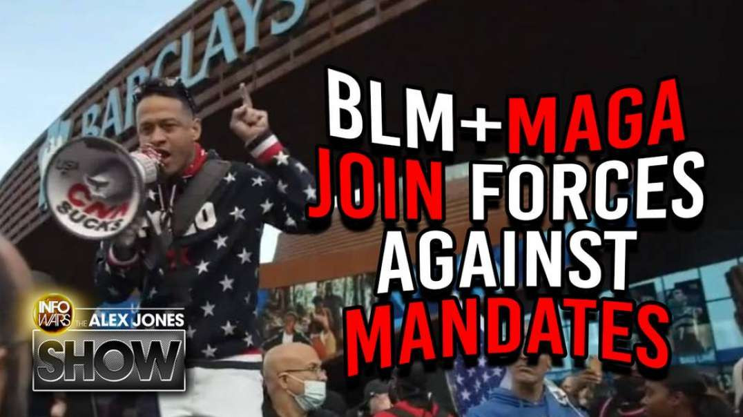 BLM And Trump Supporters Join Forces In Brooklyn Against Vaccine Mandates