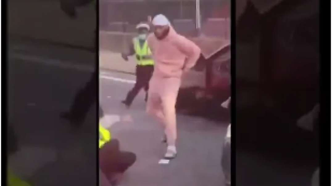 REAL Man Fights 3 New York Police Goons And WINS ! NO SOUND