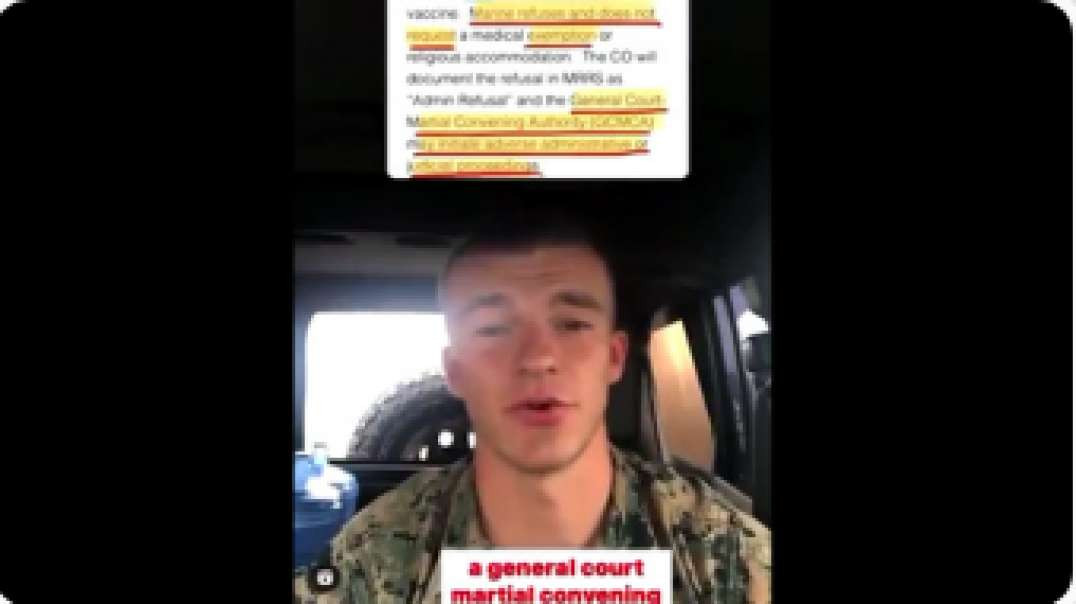 """US Marine """"I'll Happily Die Before Allowing the Covid Vaxx Into My Body'"""